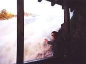 90 - Wayne touching Rhine Falls