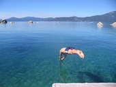 14 - Russ Smith jumping into freezing Lake Tahoe