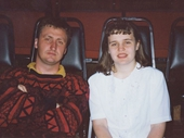 23 - Kellie French and I looking very excited at the 1997 Feast