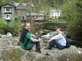 33 - Muller and Gary at Betsw-y-Coed in Wales