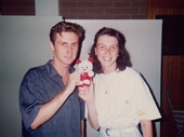 29 - Lina Mager and I at a Melbourne dance in 1991