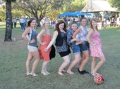 39 - 2012 Feast (Kawana Waters) Girls clowning around on Family day