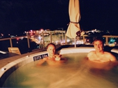 59 - 2004 Noosa Feast - Trevor and I enjoying our rooftop spa