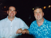 64 - 2004 Noosa Feast - Mark Jackson and I at Dinner at Montville