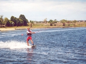 94 - 2000 Noosa Feast - Chris Thurley cable ski-ing at Feast 2000