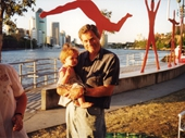 100 - Geoff Nelson and granddaughter Lauren at Kangaroo Point