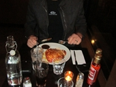 18 - Chris and our awesome Chicken Parmaganas at Majos