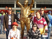 71 - Chris, Helen, Nat, Myself & Tim with King Wally at Suncorp Stadium