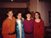 84 - Mitch, Jo, Duncan and Jemima Robertson at Jo's 21st party