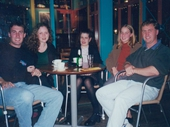 92 - Peter and Susie Vaughan, Wendy, Felicia and I at Southbank