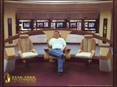 43 - Star Trek the Experience in Las Vegas - Yours Truly in the Captain's chair