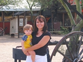 69 - Tiff holding Scotty at Cave Creek