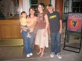 72 - Tiffany and all three kids at Claim Jumper in Phoenix