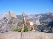 130 - Yosemite National Park - Russ about to fall off Glacier Point