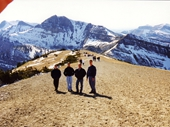 03 - A few of the guys on the mountain above Teton Village