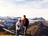 04 - Jennifer Baughman and I  on the mountain above Teton Village