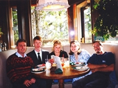 18 - Myself, David, Jen, Kellie and Spice at Jackson Hole feast 1997
