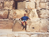 03 - Sitting on the HUGE stones of the Great Pyramid