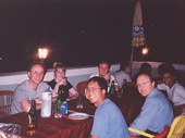 12 - Our group enjoying drinks on our first night in Egypt