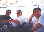 15 - Relaxing on a felucca sailing on the Nile