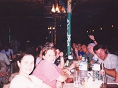 20 - Our group having dinner on the Nile at Aswan