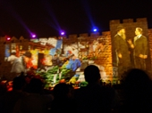 66 - Western Wall of Jerusalem during Passover Sound and Light Show