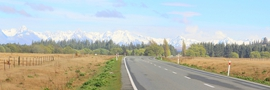 34 - Road view heading to Lake Tekapo