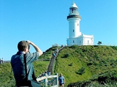 46 - Gary taking photo of Cape Byron lighthouse