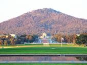 22 - Australian War Memorial in front of Mount Ainslie