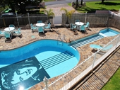 25 - Elvis Pool at Gracelands Motel at Merimbula where I stayed
