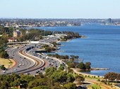26 - Kwinana Freeway near South Perth