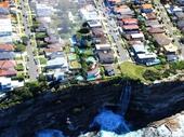 49 - Waterfall along coastline north of Bondi Beach