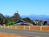 22 - Hang Glider about to take off from Mount Tamborine