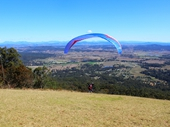 23 - Paraglider about to take off from Mount Tamborine