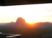 15 - Sunset over Glasshouse Mountains from Whitehorse Lookout