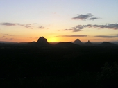 120 - Golden Sunset over Glasshouse Mountains