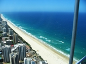 15 - Surfers Paradise beach from Q1 tower