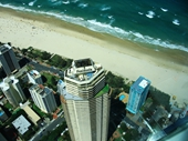 51 - Holiday apartments and Surfers Paradise beach from Q1 tower