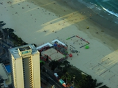 52 - Holiday apartments and Surfers Paradise beach from Q1 tower