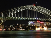 07 - Sydney Harbour Bridge and Luna Park at night