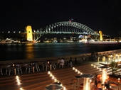 14 - Sydney Harbour Bridge from the Opera House at night