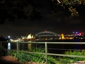 30 - Sydney Harbour Bridge and Opera House at night