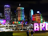 07 - Brisbane from Southbank at night during G20