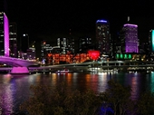 08 - Brisbane from Southbank at night during G20