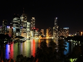 22 - Brisbane from Kangaroo Point at night