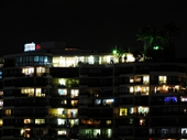 117 - Riverside Apartments at night