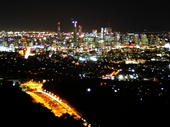 142 - Brisbane from Mount Coot-tha lookout at night
