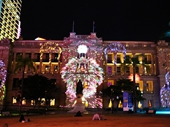 77 - Sound and light show on Treasury Hotel building
