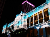 78 - Sound and light show on Treasury Hotel building