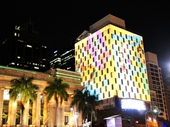 87 - Light show on Mercure Hotel during G20 conference